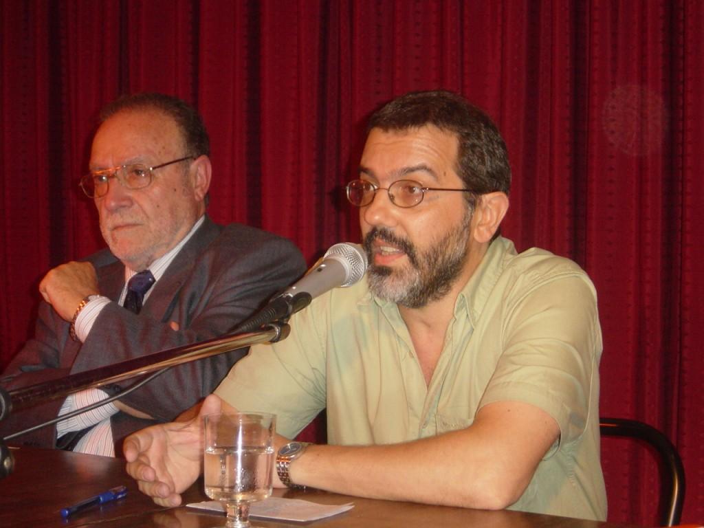 Díaz y Lores durante la presentación del libro, el viernes 23 de marzo