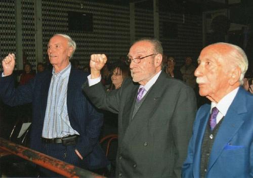 Francisco Lores junto a Manuel Campos y Darío Rivas