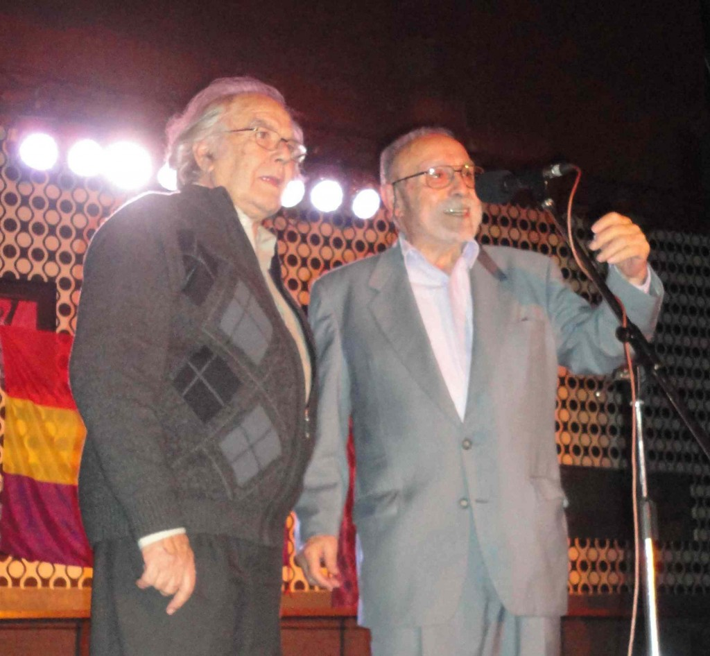 Francisco Lores Mascato y Adolfo Pérez Esquivel encabezaron el acto