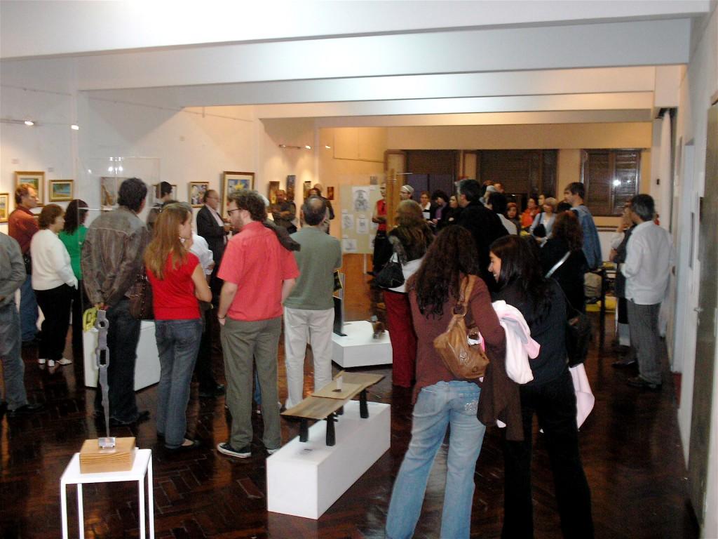 Mucho público en la apertura de la exposición
