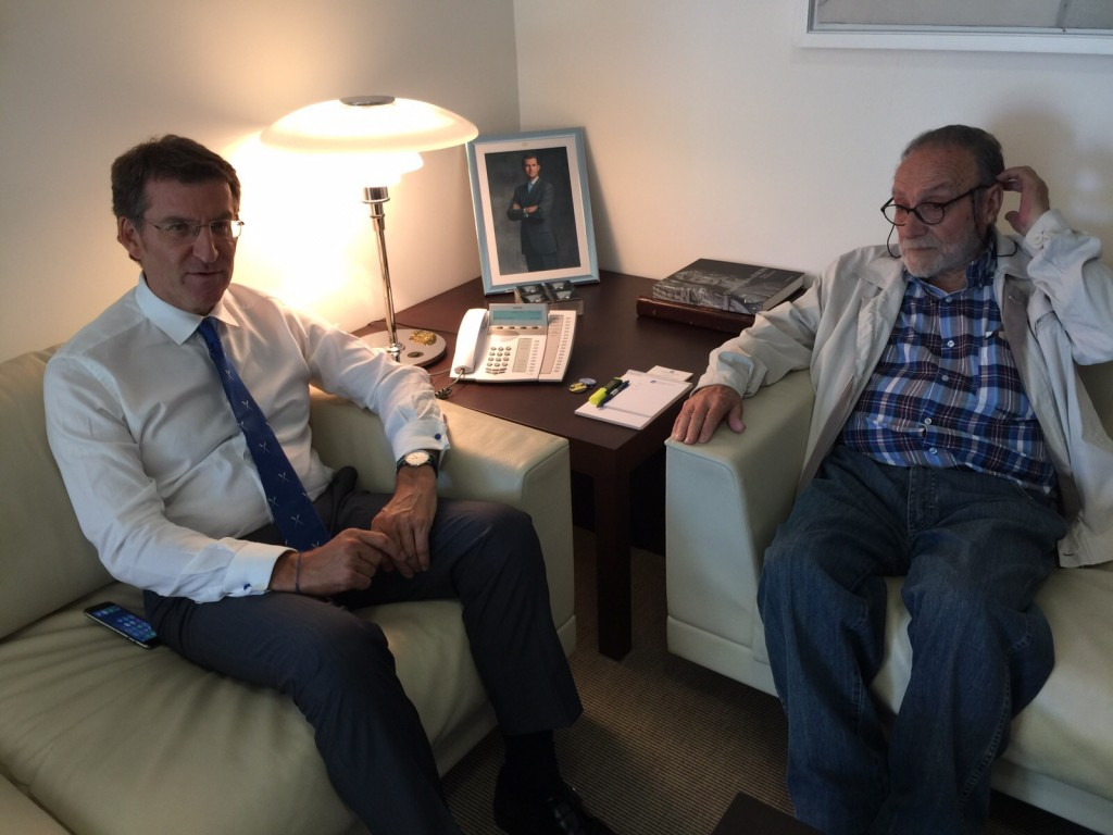 Cordial diálogo entre ambos dirigentes gallegos