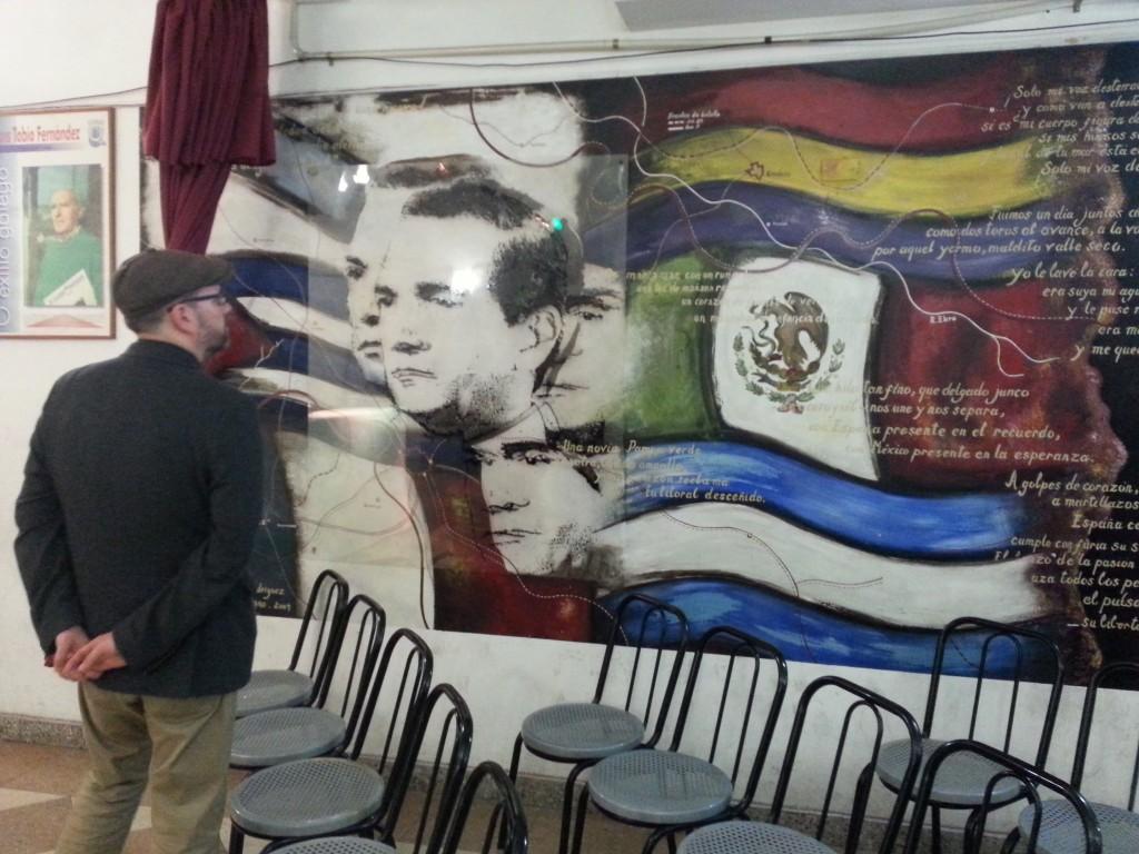 Noriega observó con mucha admiración los distintos murales, como el de Lorenzo Varela