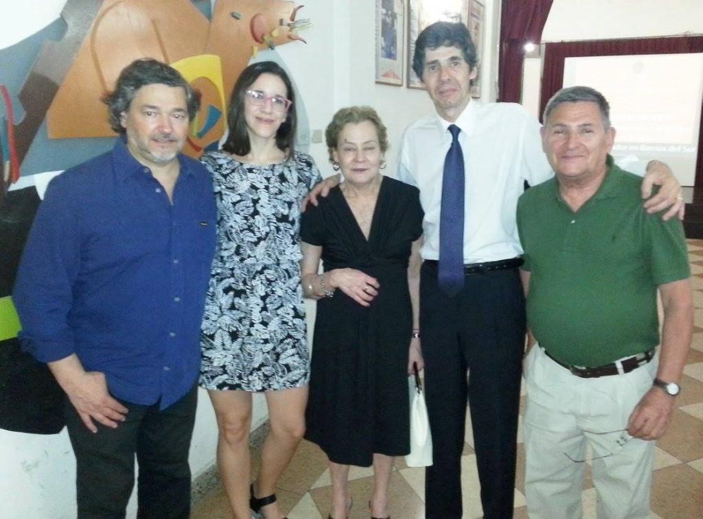 En el 10º aniversario del Museo, junto a sus compañeros de trabajo