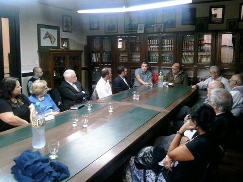 Dirigentes vascos valoraron la experiencia aportada por los directivos de nuestro Museo